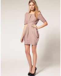 ASOS Collection | Pink Asos Petite Tulip Dress with Sleeves | Lyst