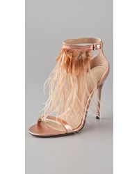 B Brian Atwood | Metallic Laracca High Heel Sandals | Lyst