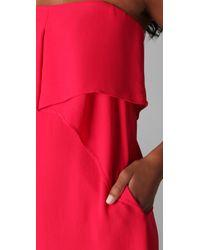 BCBGMAXAZRIA - Pink Fei Fei Strapless Dress - Lyst