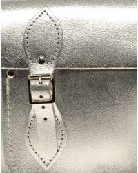Cambridge Satchel Company - Silver Metallic Satchel - Lyst