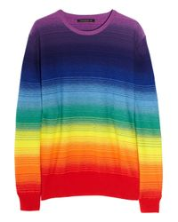 Christopher Kane | Multicolor Rainbow Cashmere Sweater | Lyst
