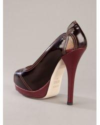 Fendi   Brown Leather Pump   Lyst