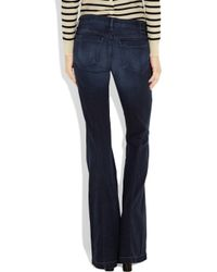 Goldsign | Blue Virginia Low-rise Flared Jeans | Lyst
