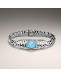 John Hardy | Blue Oval Station Bracelet | Lyst