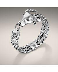 John Hardy | Metallic Bull Head Bracelet for Men | Lyst