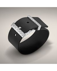 John Hardy | Black Leather Buckle Bracelet for Men | Lyst