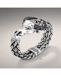 John Hardy - Gray Bull Head Bracelet for Men - Lyst