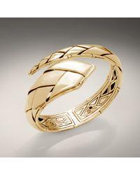 John Hardy | Metallic Diagonal Overlap Cuff | Lyst