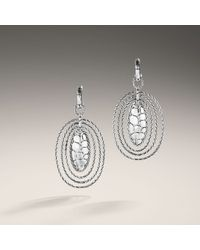 John Hardy | Metallic Oval Hoop Drop Earrings | Lyst