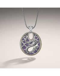 John Hardy | Metallic Dragon Oval Pendant On Chain Necklace | Lyst