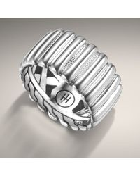 John Hardy | Metallic Wide Band Ring | Lyst