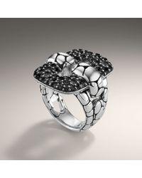 John Hardy - Metallic Rectangular Link Ring - Lyst