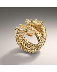 John Hardy | Metallic 18k Gold Naga Head Coil Ring | Lyst