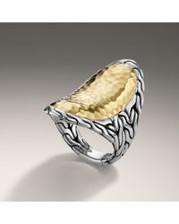 John Hardy | Metallic Saddle Ring | Lyst