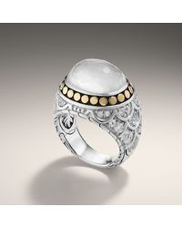 John Hardy | Green Oval Cabochon Ring | Lyst