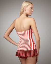 Juicy Couture   Red Sailor Girl Striped Swimdress   Lyst