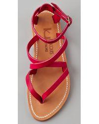 K. Jacques - Purple Epicure Crisscross Strap Sandals - Lyst
