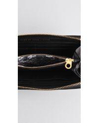 Marc By Marc Jacobs - Black Turnlock Python Shine Slim Zip Wallet - Lyst