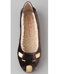 Marc By Marc Jacobs | Gray Velvet Mouse Slippers | Lyst