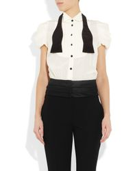 Boutique Moschino | Black Crepe and Wool Tuxedo Jumpsuit | Lyst