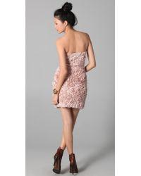 Obakki - Pink Strapless Dress - Lyst