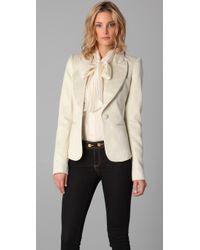 Rachel Zoe | White Jean Metallic Jacquard Jacket | Lyst