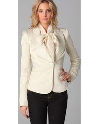 Rachel Zoe   White Jean Metallic Jacquard Jacket   Lyst