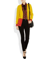Sonia by Sonia Rykiel   Yellow Cotton and Cashmere-blend Cardigan   Lyst