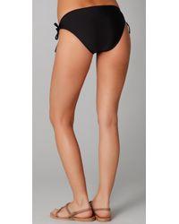 Splendid - Black Bayside Solid Tunnel Bikini Bottoms - Lyst