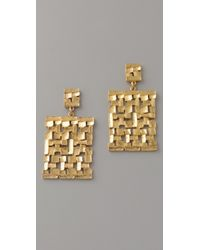 Theodora & Callum - Metallic Corfu Earrings - Lyst