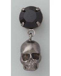 Tom Binns - Black Della Notte Crystal & Skull Earrings - Lyst