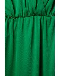 TOPSHOP | Green Split Neck Maxi | Lyst