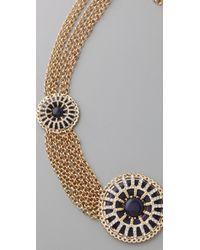 Tuleste - Metallic Circle Pendant & Chain Necklace - Lyst
