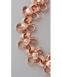 Tuleste - Pink Ribbon Necklace - Lyst