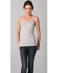 Vince | Gray Heather Dusk High Back Tank Top | Lyst