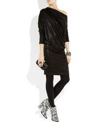 Vivienne Westwood Anglomania - Black Drape Metallic Stretch-Jersey Dress - Lyst