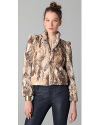 Alice + Olivia - Brown Faux Fur Jacket - Lyst