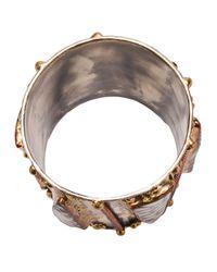 Anndra Neen - Metallic Shell Bangle - Lyst