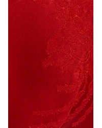 Carine Gilson | Red Silk-blend Satin and Lace Push-up Bra | Lyst