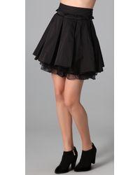 Elizabeth and James | Black Pratte Taffeta and Silk-organza Skirt | Lyst
