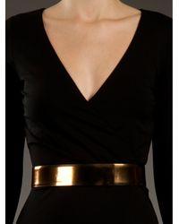 Gucci | Black Wrap Dress | Lyst