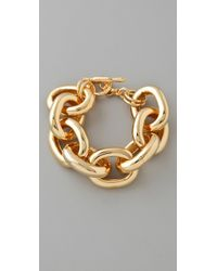 Kenneth Jay Lane | Metallic Gold Large Link Bracelet | Lyst