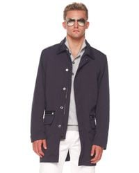 Michael Kors | Black Balmacaan Jacket, Button/zip Sweater & Modern-fit Jeans for Men | Lyst