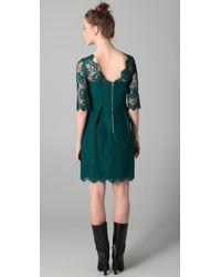 MILLY | Green Celia Lace Dress | Lyst
