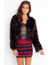 Nasty Gal | Freya Faux Fur Coat - Black | Lyst