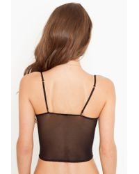 Nasty Gal - Scalloped Lace Cami - Black - Lyst