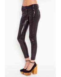 Nasty Gal - Black Sequin Skinny Pants - Lyst