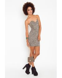 Nasty Gal | Multicolor Right Angles Dress - Leopard | Lyst