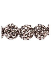 Nialaya - Black Small Crystal Bead Bracelet for Men - Lyst