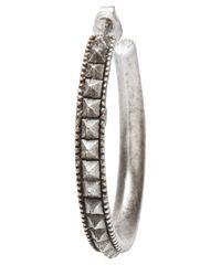 Philip Crangi - Metallic Spike Hoop Earring - Lyst